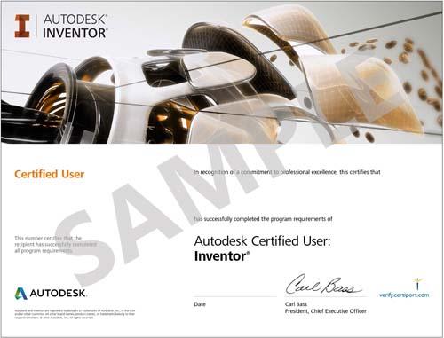 Autodesk-Inventor-Certificate-Sample