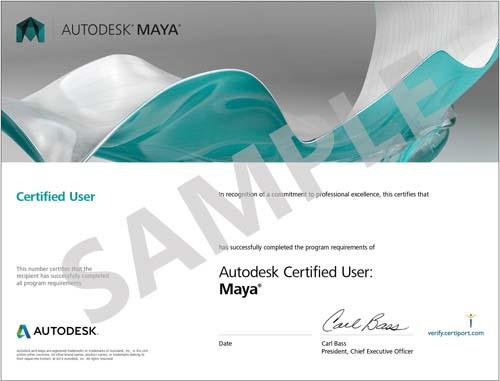 Autodesk-Maya-Certificate-Sample