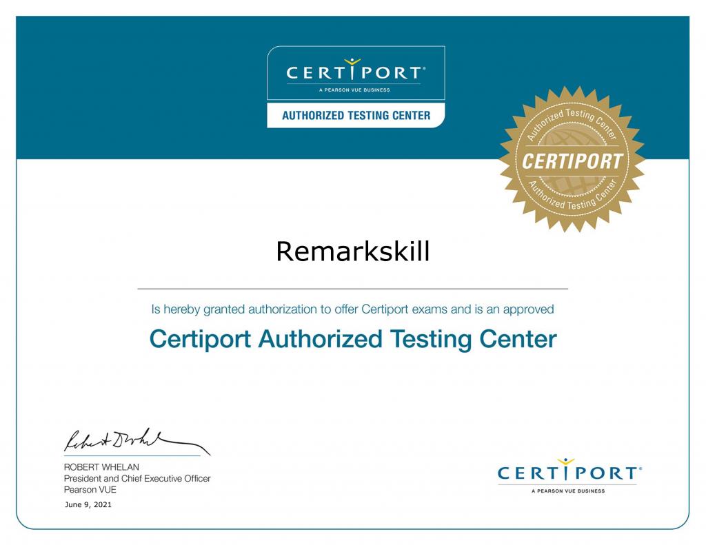 Certiport Authorized Testing Partner