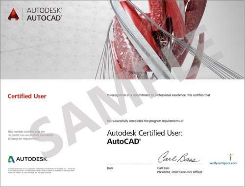 Sample-Certificate-AutoCAD